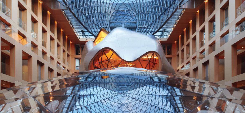 Das Atrium der DZ BANK / AXICA in Berlin